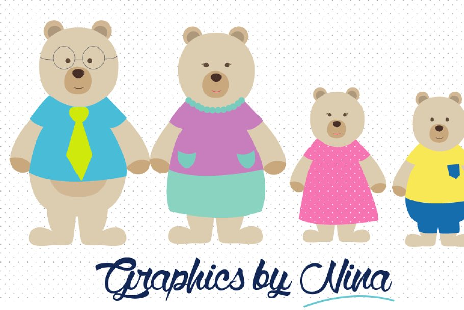 Bear Family Clipart.