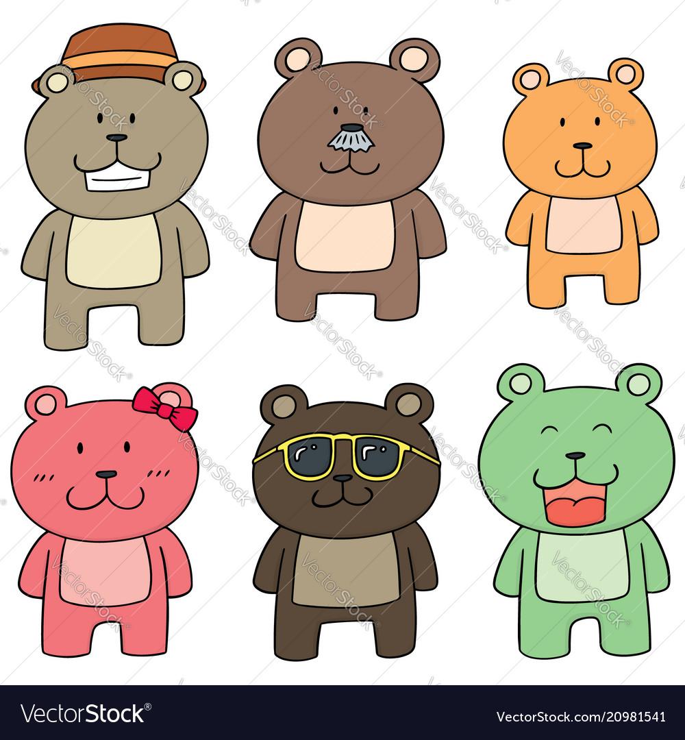 Set of bear family.