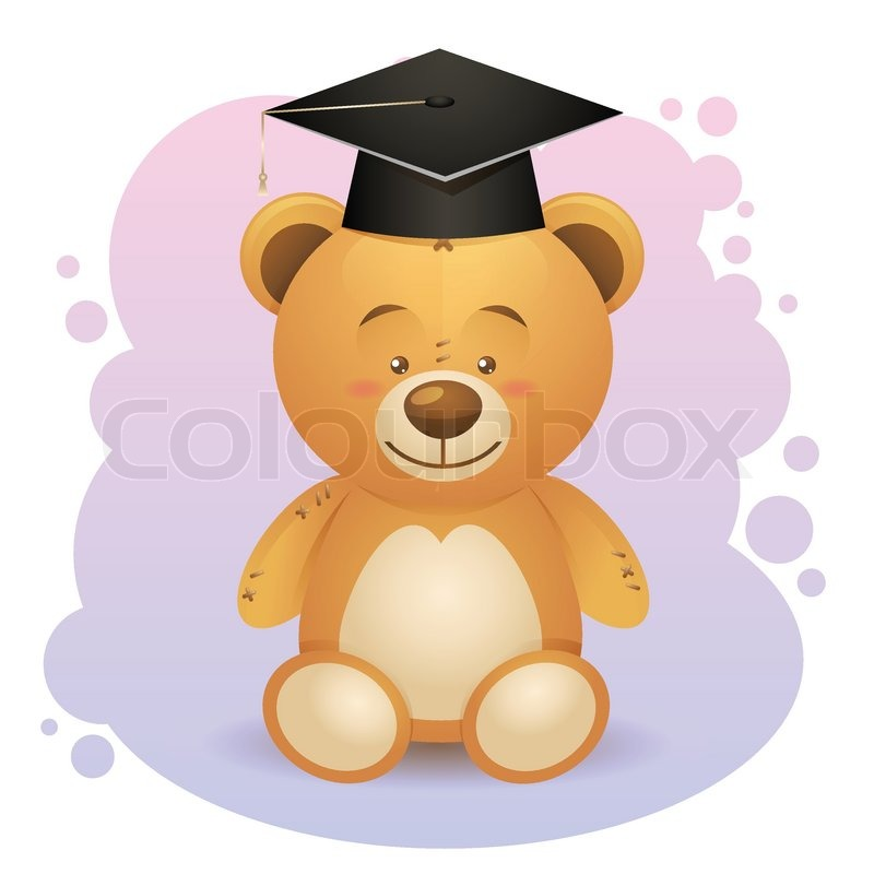 Back to school cute teddy bear toy in.