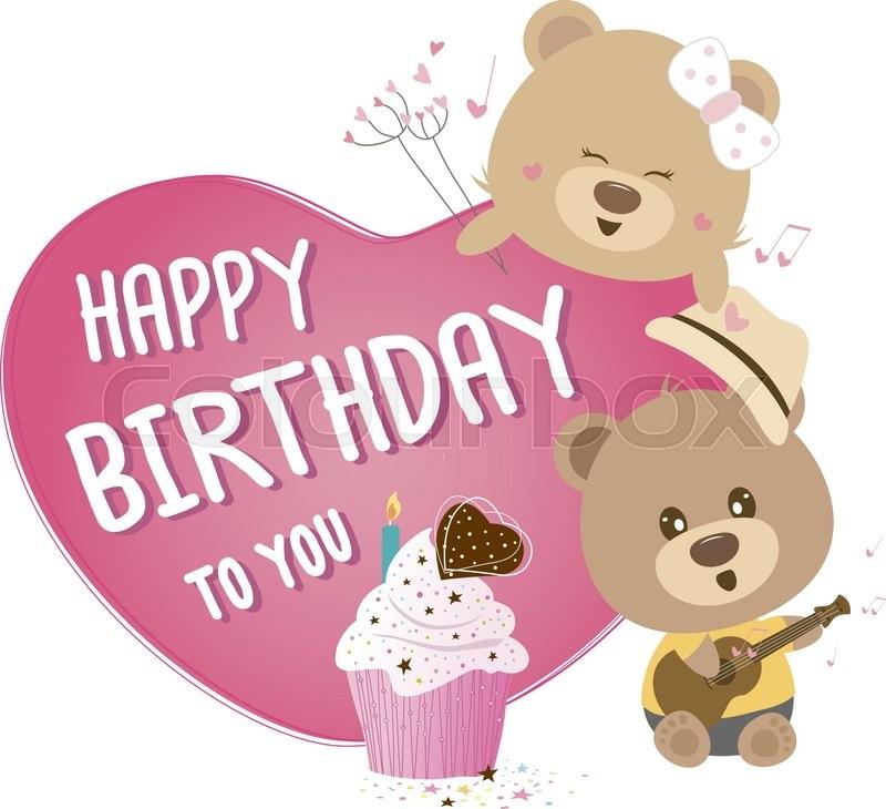 Happy Birthday Teddy Bear Clipart.