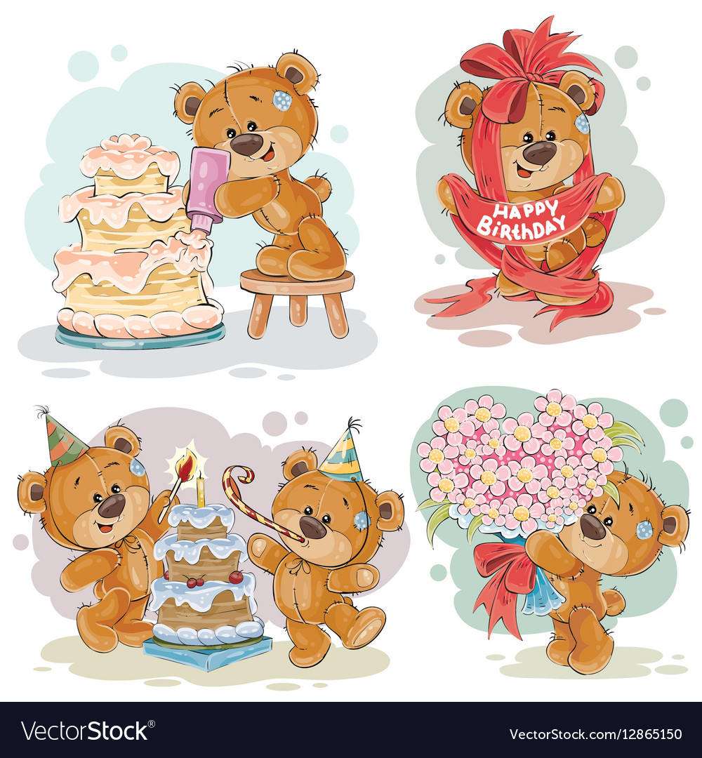 Clip art of teddy bear wishes you a.