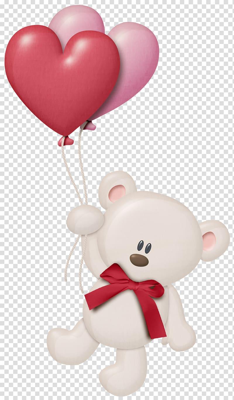 Bear Heart Balloon , White Teddy with Heart Balloons , bear.