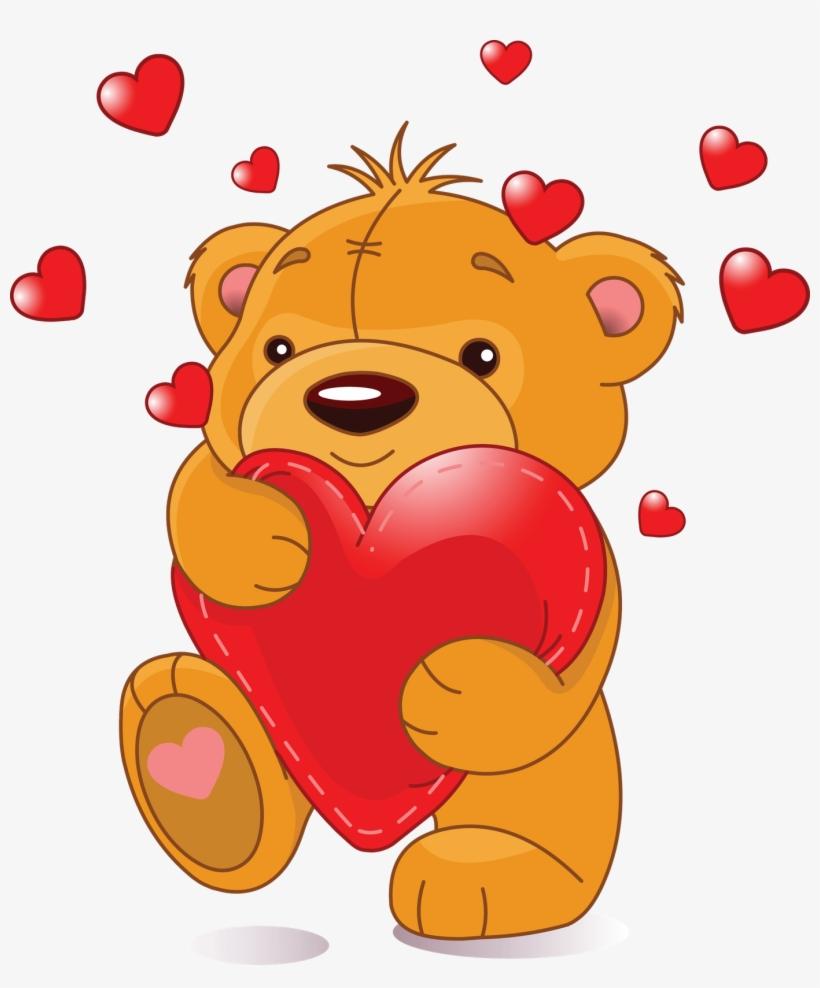 Teddy Bear Hugs Clipart.