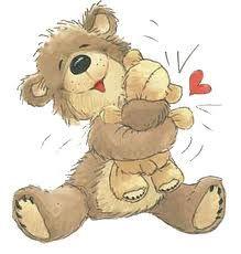 ʕ •́؈•̀ ₎♥ Bear Hug.