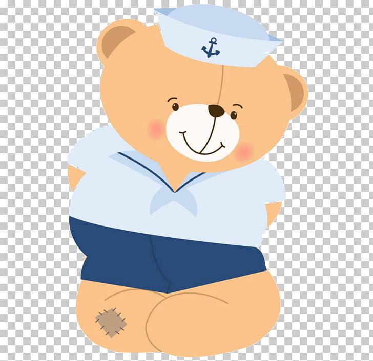 Paper Sailor Party Adhesive, nautical, bear wearing white.