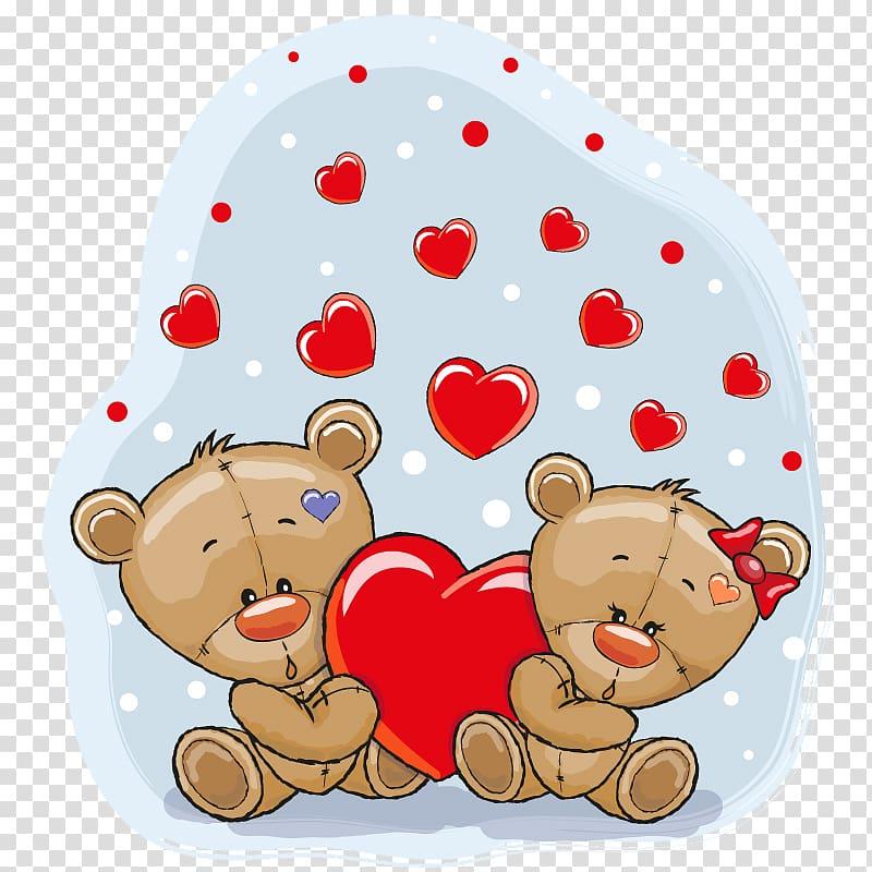 Two brown bears illustration, Teddy bear illustration, Love.