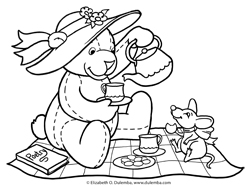 Teddy Bear Picnic Coloring Pages at GetDrawings.com.