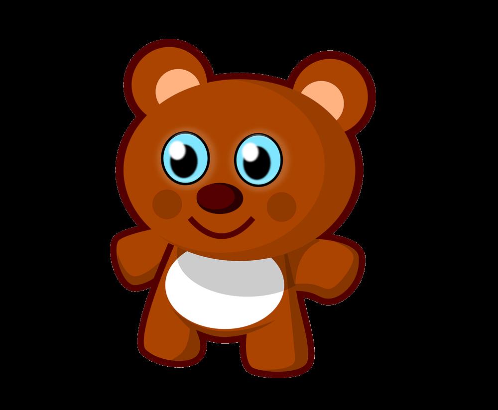 cartoon bear png transparent background image.