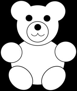 Printable Teddy Bear clip art.