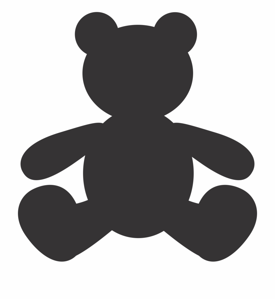 Teddy Bear Silhouette Vector Free PNG Images & Clipart.