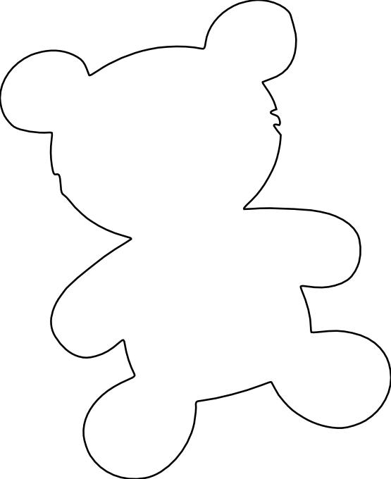 clipartist.net » Clip Art » bear silhouette black white line.