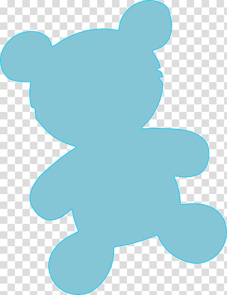 Teddy bear Silhouette , Plateau transparent background PNG.