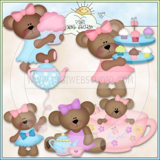 Teddy Bear Tea Clip Art.