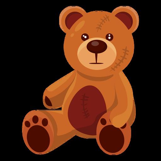 Old teddy bear illustration.