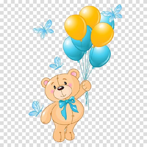 Teddy bear Balloon, bear transparent background PNG clipart.