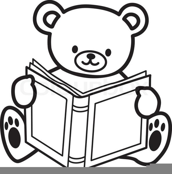 Teddy Bear Reading Clipart.