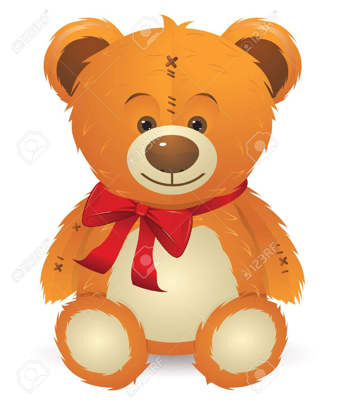 Happy Teddy Bear Clipart.