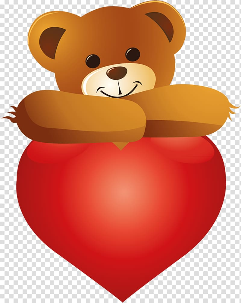 Teddy bear Heart , bear transparent background PNG clipart.