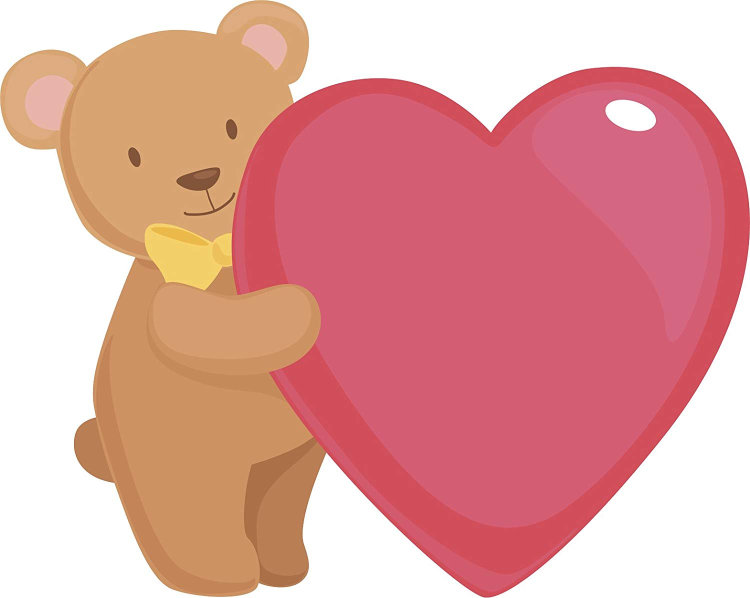 Amazon.com: Cute Adorable Teddy Bear Hugging A Heart Cartoon.