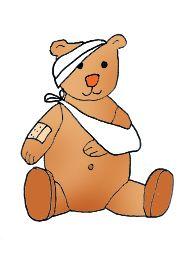 medical clip art teddy bear sick plaster in 2019.