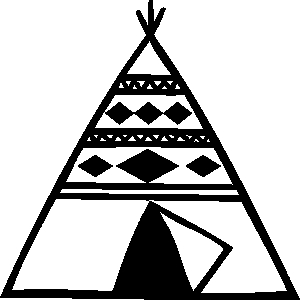 Teepee clipart free.