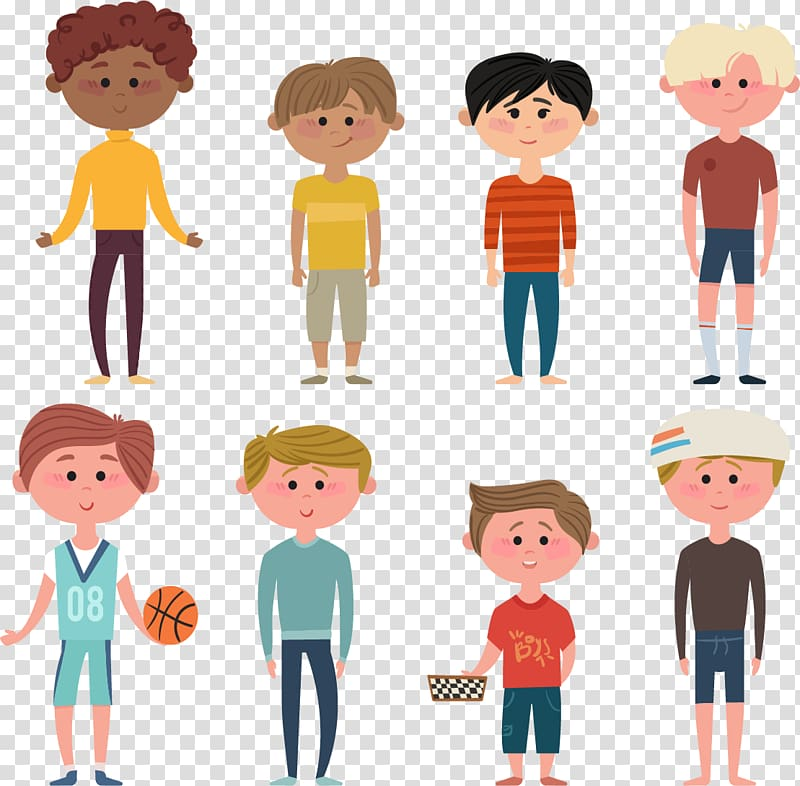 People cartoon illustration, Boy Icon, Teen boy transparent.