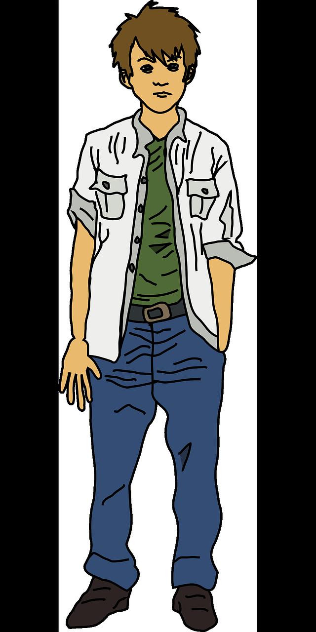 Boy Man Teen Teenager Young PNG.