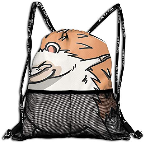Amazon.com: Moore Me Hedgehog Dab Pose Drawstring Backpack.