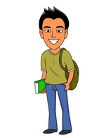 Male Teen Clipart.
