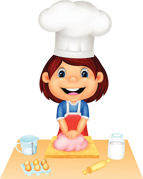 Teen Cooking Clip Art, Vector Images & Illustrations.