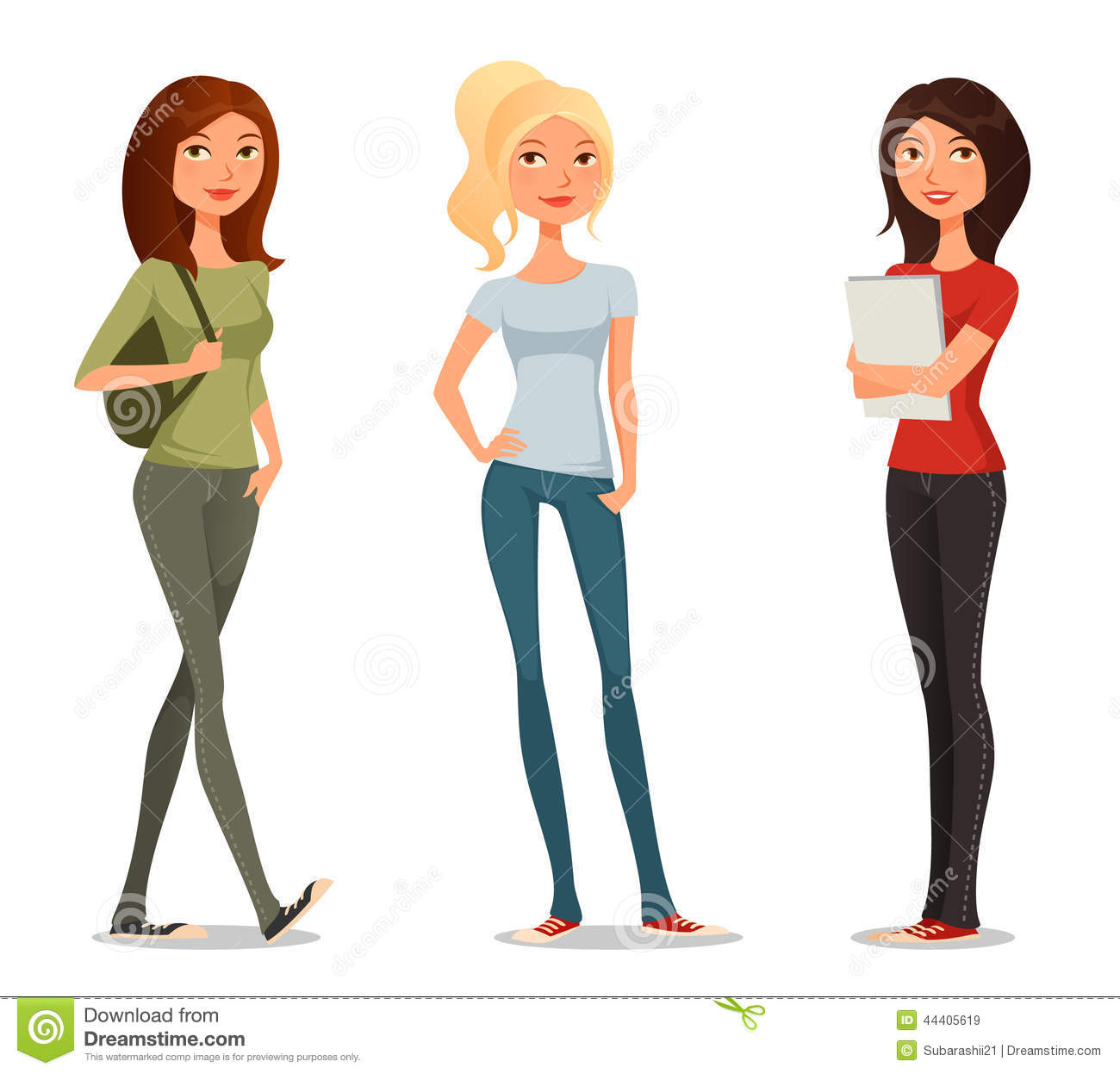 Teenage girls clipart 6 » Clipart Station.
