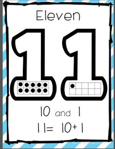 These are place value posters for teen numbers. They were very.