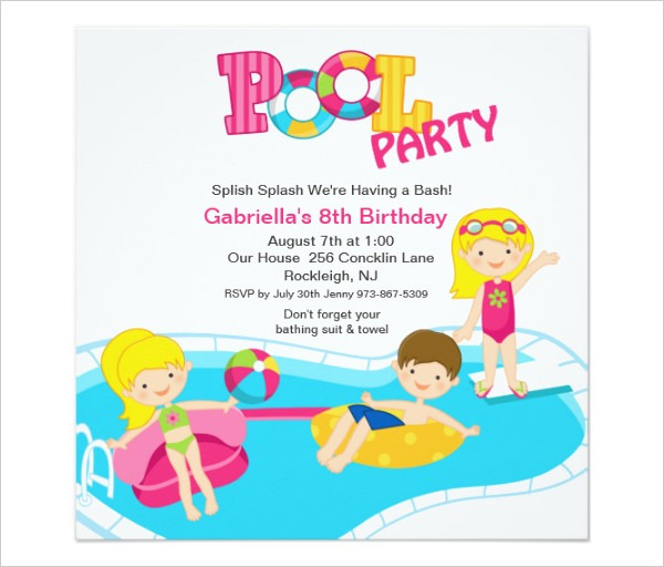 36+ Pool Party Invitation Templates.