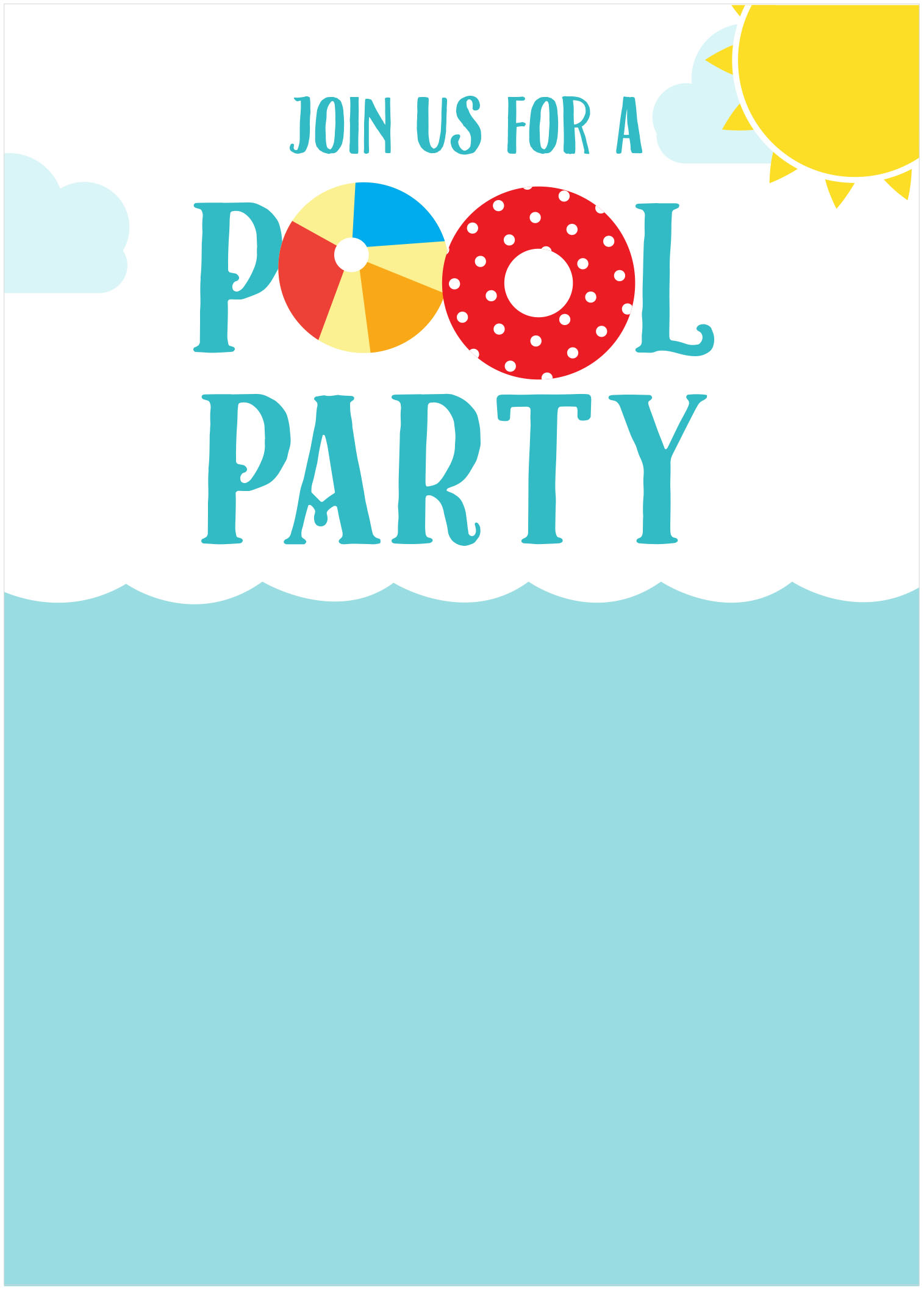 Pool Party Clipart Free.
