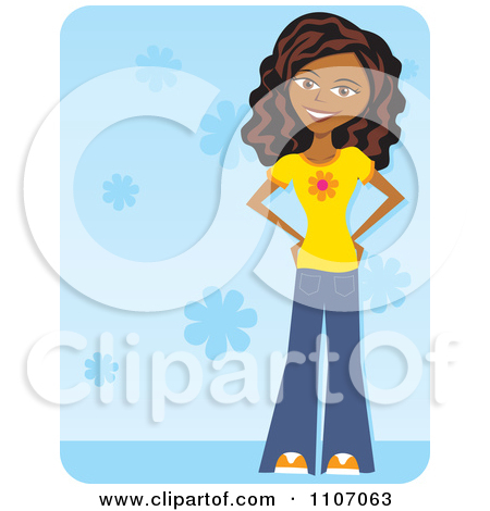 Clipart Of A Black Teenage Girl.