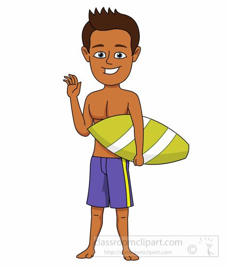 Clipart Teenage Boy Going To School.