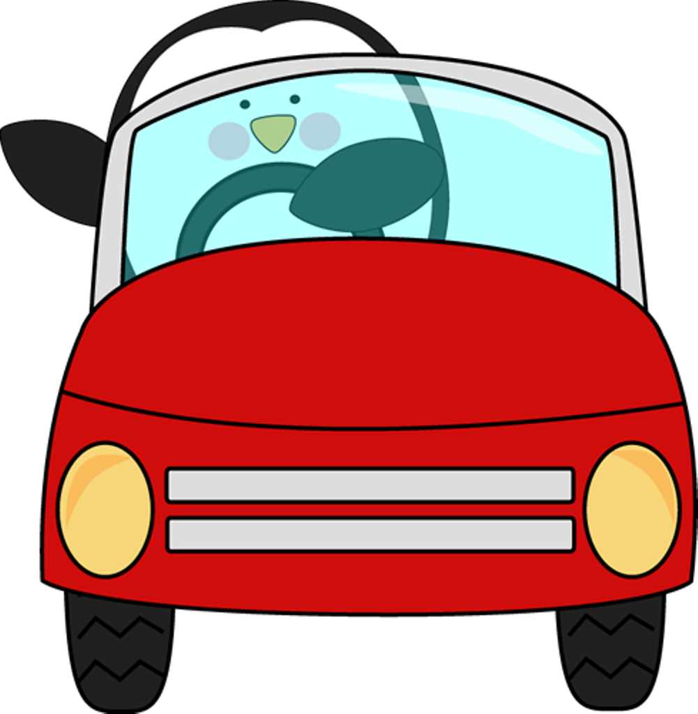 Teen driving sports car clipart.