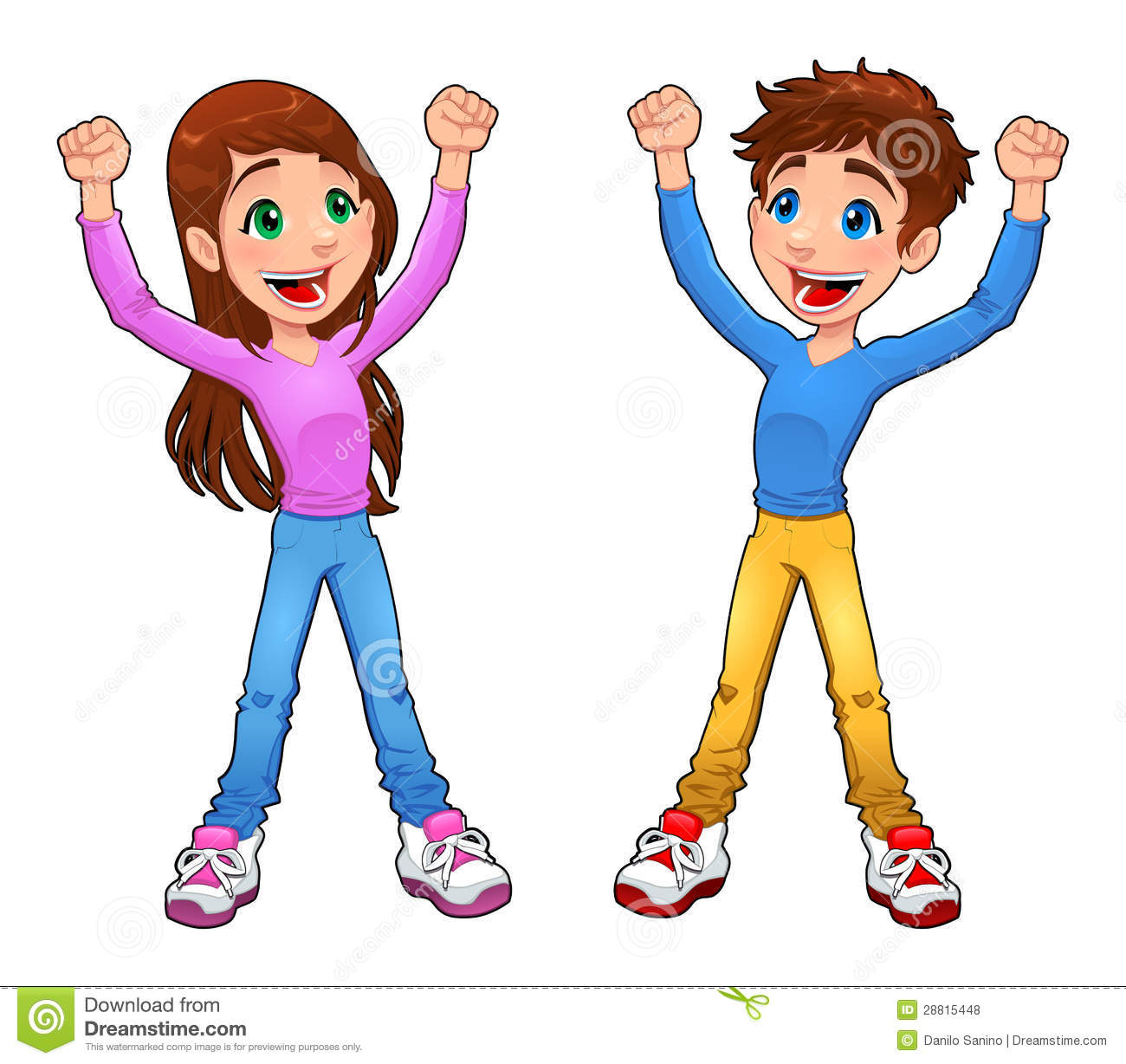Teenage Girl And Boy Clipart.