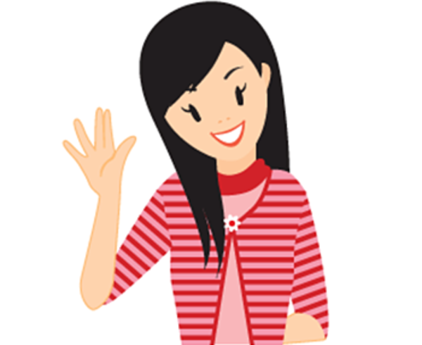 Teenage Girl Clipart Hi Swear Icon.