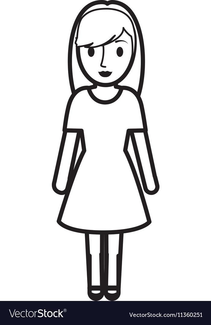 Teen girl character avatar.