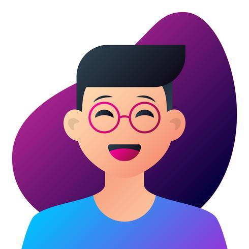 Teen Boy With Glasses Potrait.