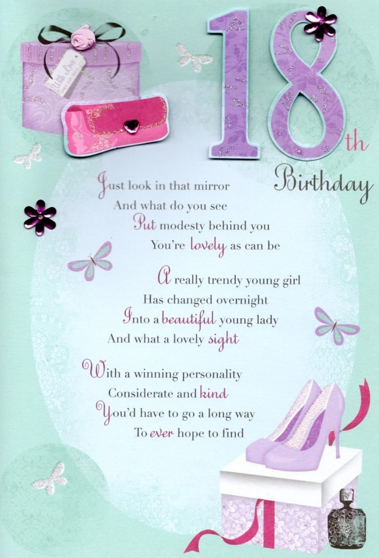 18th Happy Birthday Greeting Card.