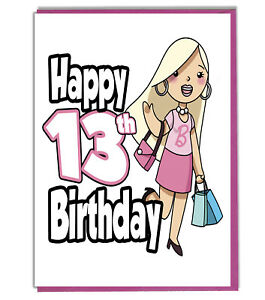 Details about Glamour Girl 13th Birthday Card Girls Teenager Daughter  Grandaughter Friend BFF.