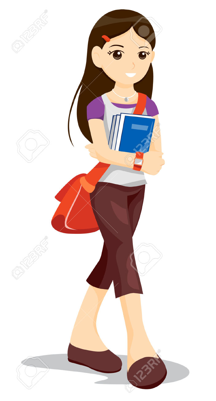student clipart female clipground