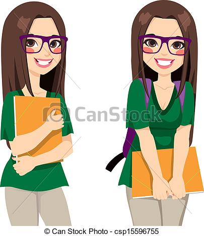 Cute Teen Girl Clipart.