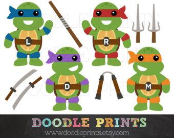 Ninja turtle clip art.