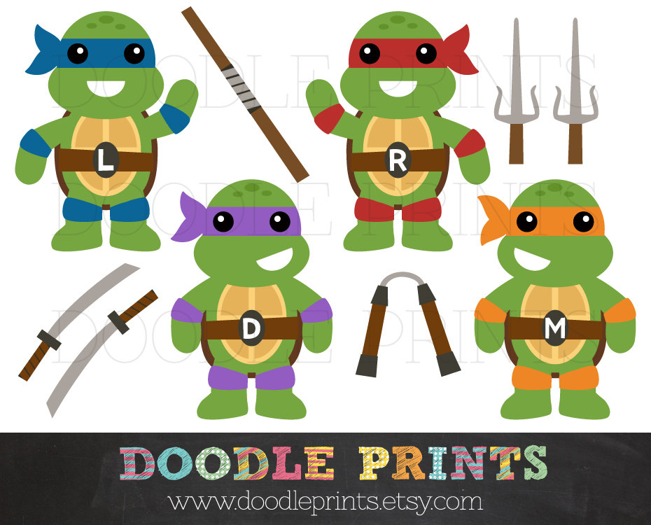 Ninja turtle clipart.