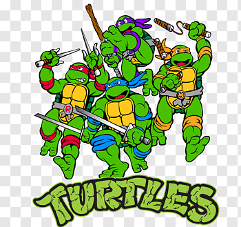 Black turtle illustration, Turtle shell Raphael Teenage.
