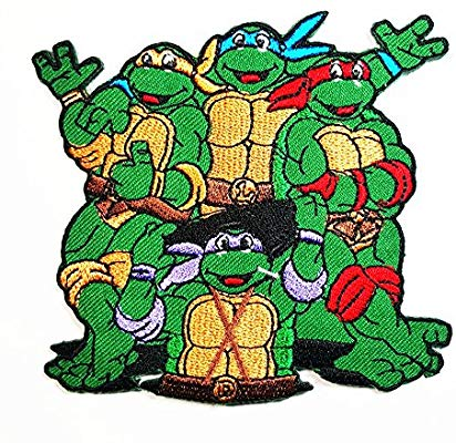Teenage Mutant Ninja Turtles Movie Cartoon Superhero band logo patch Jacket  T.