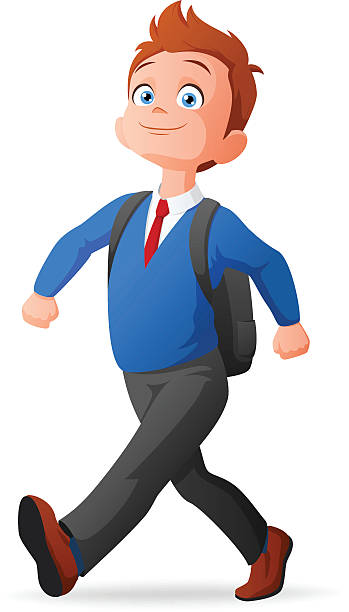Teenager Walking Clipart.